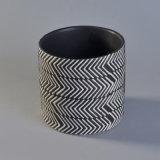 O melhor frasco de venda da vela com Weave popular Pattern