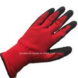 Оптовая торговля нейлон с покрытием из латекса трикотажные рабочие перчатки