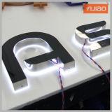 3D suportam a letra do aço inoxidável do espelho do Lit