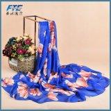 Form-Silk Schal-Schal-Druck-Blumen-Schale der Frauen