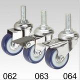 Blauer Belüftung-Schwenker-Schraubverschluss- Fußrolle