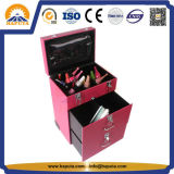 Rolling Leather Nail Makeup Case com 4 rodas (HB-6202)
