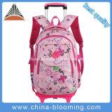 学生の美しい圧延の学校のバックパックの車輪のブックバッグのトロリー袋
