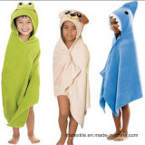 Promotion Baby Cotton Bath Blanket Hooded Towel with High Quality