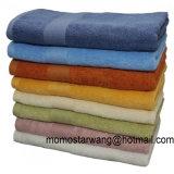 Multi colori dei tovaglioli di bagno cotone/del bambù con il bordo della ratiera
