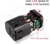 Ue aus UK USA Bouchon 4 port USB de type C chargeur adaptateur de voyage universel adaptateur multifonctions