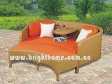 Мебель Bl-2332 Wicker сада софы двойника ротанга установленного напольная