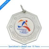 De stempelende Zilveren Medaille van de Sport van de Herinnering Lopende