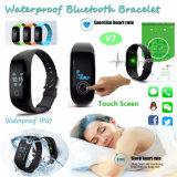Étanche Bluetooth Smart Bracelet avec moniteur de fréquence cardiaque (V7)