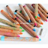 Large Wooden les crayons de cire, 12 crayons de couleur Jumbo