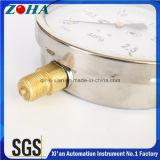 6つのインチSsのケースの真鍮のコネクター圧力範囲0.25MPa IP65の保護程度のShakeproof圧力メートル
