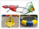 空気浮遊塊のスライドのTowableトランポリン膨脹可能な水ゲーム