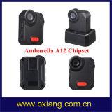 Ambarella A12 160度の耐震性IP65警察のボディによって身に着けられているビデオ・カメラ広角の2メートルの
