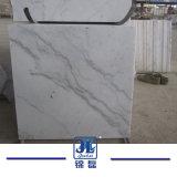 フロアーリングのための中国白の大理石の石のタイルを特定のサイズにカットしなさい