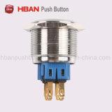 ステンレス鋼30mmの防水LEDによって照らされる瞬時の押しボタンスイッチ
