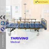 Klinik Einzeln-Kurbel manuelles geduldiges Bett