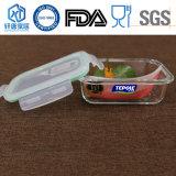 Alta Qualidade de vidro borossilicato Four-Sides Bloqueado Recipiente Alimentar Lunch Box