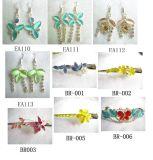 Mode bijoux - broche et boucles d'oreille (YC-1200)