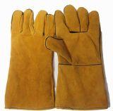 Cuero de vaca guantes de protección de la soldadura de trabajo