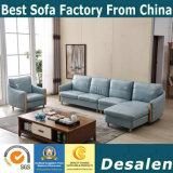 L形のホーム家具の革ソファー(8069)をエクスポートする2018新しい到着中国
