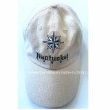 OEMはロゴによって刺繍された綿のカーキ色のスポーツの野球帽の帽子の工場をカスタマイズした