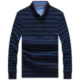 Listra homens mangas longas Camisa camisa Casual camiseta camisa Polo