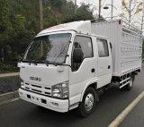 Isuzu 4X2 double cabine camion léger de fret de la porte d'entrepôt