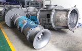 수직 원심 분리기에 의하여 섞이는 교류 및 축 펌프