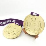 precio de fábrica chapado en oro de Navidad de la medalla de deportes