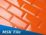 """"""" mattonelle lustrate di ceramica smussate della parete del sottopassaggio dell'arancio 3X6"""