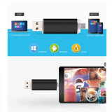 Lecteur flash USB duel du téléphone mobile fait sur commande OTG de logo