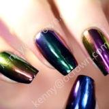 Le néon Chameleon miroir Passage pour clous de pigments de couleur