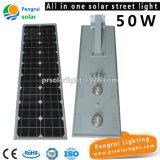 светильник 50W СИД с уличным светом батареи Li солнечным
