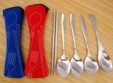 携帯用ステンレス鋼の食事用器具類は袋袋とセットした