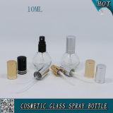 10ml réutilisables effacent la bouteille de parfum en verre avec le pulvérisateur de pompe
