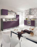 Nieuw kom Moderne Hoog polijsten Keukenkasten aan