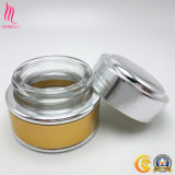 Yellowish Brown Jar with Silver Cap for Cream Container Wholesale