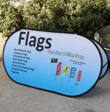 L'étalage extérieur d'installation facile directe d'usine sautent vers le haut le drapeau à vendre