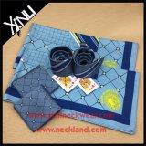 Pañuelo y lazo tejidos seda del cuadrado del bolsillo de la manera del 100% para los hombres