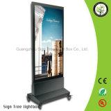 Alto LED al aire libre y de interior ligero que hace publicidad del rectángulo ligero