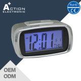 시간과 날짜를 가진 LED 역광선 디지털 탁상용 Alam 시계