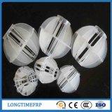 Bola poliédrica de plástico blanco para el tratamiento del agua