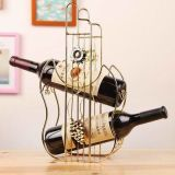 La decoración del hogar Metal estante de vino de regalo y el Vino titular