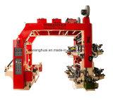 Stapel-Typ vier Farben Flexo Drucken-Maschine der Farben-4