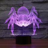 Illusion Lampe de table USB LED Spider Touch Switch 3D LED Night Light Batterie de nuit pour bébé