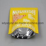 최고 지플락 비닐 봉투 또는 Resealable 박판으로 만들어진 알루미늄 호일 부대는 또는 음식을%s 주머니를 위로 서 있다