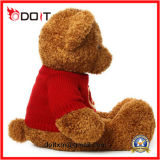 Urso do luxuoso do urso do brinquedo do urso da peluche de Brown com camisola