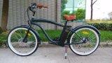 2017 en dos ruedas hombre Playa Disco de freno motor sin escobillas Bicicleta eléctrica