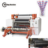 Drum Typ papier machine coupeuse en long rembobineur de paille