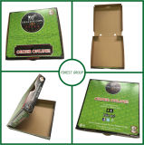 Verde offset de papel de color caja de pizza para la venta al por mayor